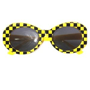 """Accessories - yellow, black checkered """"clout goggles"""""""
